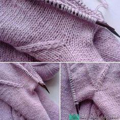 Бесшовный подрез при вязании реглана спицами без шва и дыр