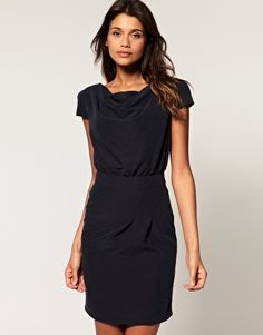 ASOS Cowl Neck Pencil Dress with Belt