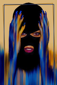 I always wanted to digitally paint a girl wearing a balaclava.