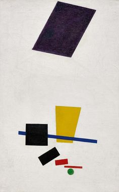 Painterly realism of a football player color masses in the 4th dimension by Kazimir Malevich, 1915. Photo courtesy the Art Institute of Chicago.