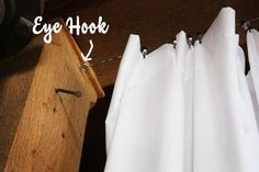 How To Hang 30' Of Curtains For $40 Home Hacks | Apartment Therapy (room divider)