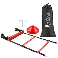 This set comes with some great items! We have an at home gym and are building our work out pieces little by little. This set is a great addition to our gym.   Speed Agility Ladder with 12 Adjustable Flat Rungs, 15ft Long - Perfect Training Equipment for Soccer, Football & Other Sports - With Bonus 10 Sports Disc Cones, Carrying Bag & 4 Metal Pegs by Abco Tech, http://www.amazon.com/dp/B072K1DFDH/ref=cm_sw_r_pi_dp_x_0jlDzb4TSM51J