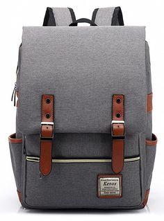 Amazon.com | Kenox Vintage Laptop Backpack College Backpack School Bag Fits 15-inch Laptop | Backpacks