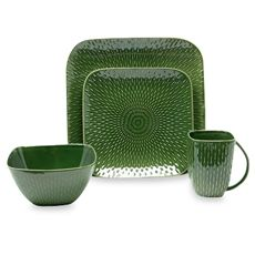 I wish this came in additional rich colors. Love this green and the style. Boxstitch Dinnerware Set - Pine - Bed Bath & Beyond Green Dinnerware, Eye Care Center, Pine Beds, Jewel Tones, The Dish, Favorite Color, Dishes, Rich Colors, Heartbeat