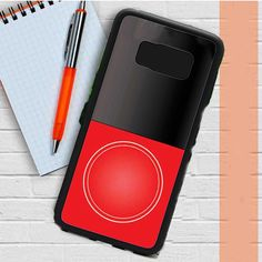 Monogram Duotone Black And Red Samsung Galaxy S8 Plus Case Dewantary