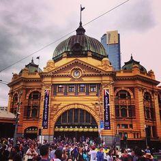 Melbourne, Flinders Street Station... 'Meet me under the clocks' :)