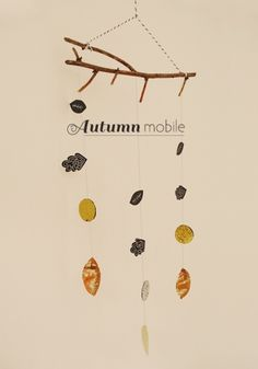 Autumn Mobile by Jessica Rebelo | Project | Home Decor | Papercraft / Decorative | Kollabora