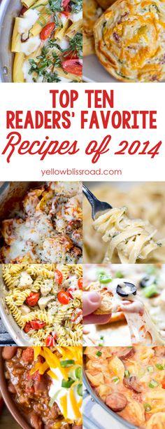 Top Ten Recipes of 2014