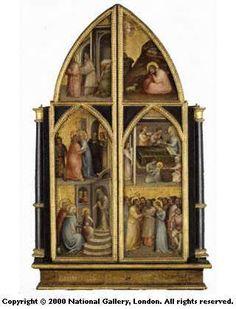 """Giusto de 'Menabuoi - Trittico """"Incoronazione di Maria Vergine e altre storie"""", chiuso - 1367 - National Gallery, London"""