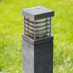Mooie hardsteen moderne buitenverlichting verkrijgbaar bij www.nostalux.nl  #Hardstenen #tuinverlichting KS Pilar #Hardsteen L | Nostalux.nl
