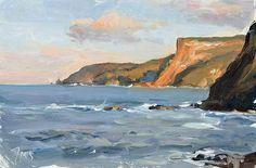 Julian Merrow-Smith, Towards the Favaritx lighthouse, evening