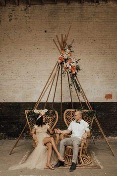Playful Urban Vow Renewal at Brake & Clutch Warehouse | Junebug Weddings