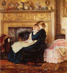 In The Nursery   Helen Allingham (1848 – 1926, English)