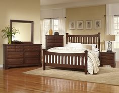The Bedford Cherry Bedroom Collection Is An Elegant Addition To Any Home Decor Get It Today With No Credit Check At All American Furniture Lakeland