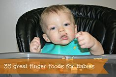 life could be a dream: 35 finger foods for baby