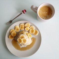 Mug cake de plátano  700g menos  y motivación máxima FELIZ JUEVES!