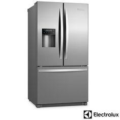 Imagem para Refrigerador French Door de 03 Portas Frost Free Electrolux com 634 Litros Inox e Cinza - FDI90 a partir de Fast Shop