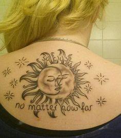 Sunmoon tattoo. So close no matter how far.