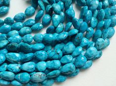 Turquoise Faceted Pear Beads Chinese Turquoise by gemsforjewels