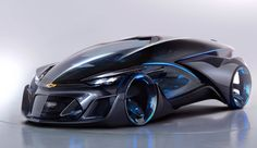 "Thought that Mercedes' F 015 self-driving car was futuristic? It looks old hat next to GM's autonomous electric concept, the Chevrolet-FNR. The pod-like design appears ripped straight from a sci-fi flick, complete with crystal laser lights, ""dragonfly"" swinging doors and sensors (including radar) that aren't as conspicuous as they are on other robotic vehicles."