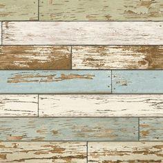 A-Street Prints Scrap Wood Weathered Texture Wallpaper Sky Blue - 2701-22302