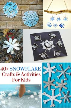 40+ Snowflake Crafts & Activities For Kids ~ Including ornaments, garland, painting projects, and so much more! ~ from henfamily.com