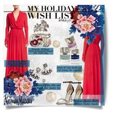 """""""The Holiday Wish List With Neiman Marcus: Contest Entry"""" by mariamharrasova ❤ liked on Polyvore featuring H&M, Camilla and Marc, Neiman Marcus, Alexander McQueen, Smith & Cult and DANNIJO"""