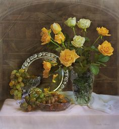 Retro Hits, Biro, Smiley, Good Morning, Glass Vase, Waterfall, Floral Wreath, Flowers, Plants