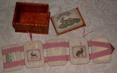 lounging hare mini sewing box open - side 2 (2 of 3)