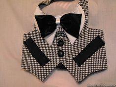 Houndstooth tuxedo by dressmeupscottie on Etsy Pink Tuxedo, Dog Tuxedo, Dog Clothes Patterns, Dog Items, Boy Dog, Animal Fashion, Dog Fashion, Dog Wear, Dog Dresses