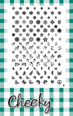 New Design Jumbo Nail Art Image Plate (K) of 126 Small-Medium Designs by CheekyŒ¬ * This is an Amazon Affiliate link. You can get more details by clicking on the image.
