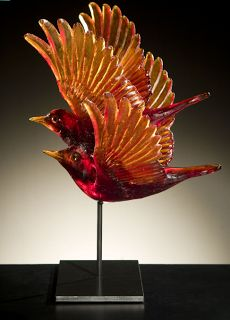 Katherine Rutecki - with Glass Objects Art Of Glass, Glass Artwork, Mosaic Glass, Fused Glass, Murano Glass, Blown Glass, The Glass Menagerie, Vases, Glass Figurines