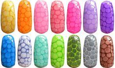 """""""Snake skin"""" look. To me it looks sort of like a turtle shell or giraffe pattern."""