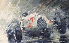 John Ketchell Paints Semi-Abstract Racing Fury!