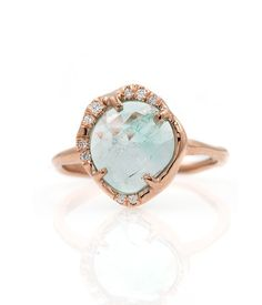 Unique Yet Timeless Fine Jewelry - Rose Cut Emerald Ring Pearl Jewelry, Jewelry Rings, Fine Jewelry, Jewellery, Million Dollar Ring, Audry Rose, Rings N Things, Emerald, Gemstone Rings