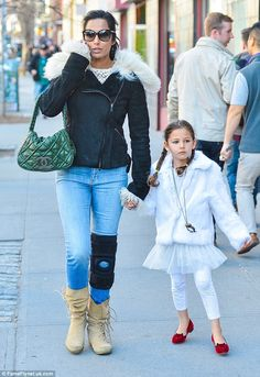 Padma Lakshmi was spotted in Soho, New York, wearing a purple dress and a voluminous hairdo to boot. She later stepped out more casually with her daughter Krishna. Fur Collar Coat, Fur Collars, Celebrity Kids, Celebrity Style, Padma Lakshmi, Cute Kids Fashion, Fashion Photo, Fashion Tips, Looking Gorgeous