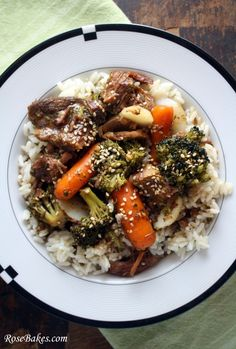 Crock Pot Beef  & Veggies over Rice.  It's what's for supper!!  :)