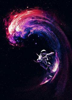 Космонавт на серфе