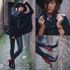 Minelli Shoes, Mango Pullover, Balenciaga Bag