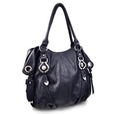 """http://peakmomentum.org/?qpn-pinnable-post=new-york-hobo-handbag-dark-navy Made from textured leatherette with silver-tone hardware. Back zip wall pocket for easy access. Dual carrying handles and zip top closure. Roomy fully lined fabric compartment. Interior zip wall pockets, cell and sunglass slip pouches. Handle drop: 10"""".  Body of bag: 14"""" L x 12"""" H x 5"""" W. BEFORE PURCHASING, PLEASE COMPARE THE SIZE OF THIS HANDBAG TO ONE OF YOUR OWN FAVORIT..."""