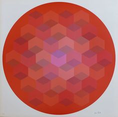 Jim Bird - Tribute to Vasarely 6, 1972