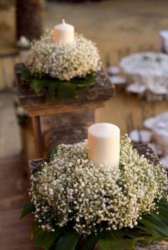 20 Budget-Friendly Baby's Breath Wedding Centerpieces - New Sites Wedding Table Centerpieces, Flower Centerpieces, Flower Arrangements, Wedding Decorations, Table Decorations, Wheat Centerpieces, Communion Centerpieces, Centerpiece Ideas, Anniversary Decorations