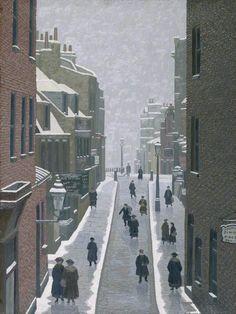 Flask Walk, Hampstead - Charles Ginner 1922 British Oil on canvas, 61 x cm Urban Landscape, Landscape Art, Landscape Paintings, Landscapes, London Painting, Post Impressionism, London Art, London Life, East London