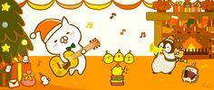 Cute Illustration, Cat Day, Neko, Winter Wonderland, Design Art, Arts And Crafts, Snoopy, Kawaii, Drawings