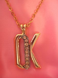 OK Okay OK Rhinestone Necklace Vintage on Etsy at RetroRosiesVintage