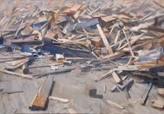 Artist Andrea Mancini; Painting,  wood