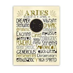 Zodiac+Art+Print++Aries+Constellation++16+x+by+AnneGarrisonStudio,+$23.00