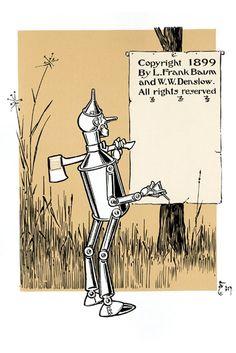 Tin Man Before Tree 1899, by W.W. Denslow
