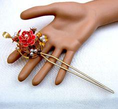 Vintage Japanese kanzashi hairpin hair accessory hair pick