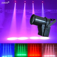 ZINUO 5W LED Stage Effect Light Single Color Small Spotlights LED Beam Lamp Pinspot For DJ Bar KTV PartyBlind Corner AC90-240V #Affiliate